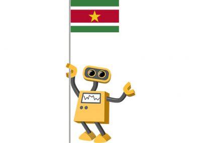 Robot 39-SR: Flag Bot, Suriname