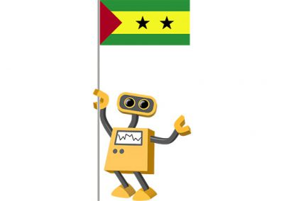 Robot 39-ST: Flag Bot, Sao Tome and Principe