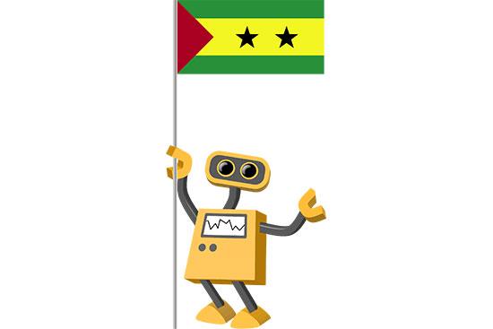Robot 39-ST: Flag Bot, Sao Tome and Principe