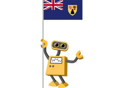 Robot 39-TC: Flag Bot, Turks and Caicos Islands