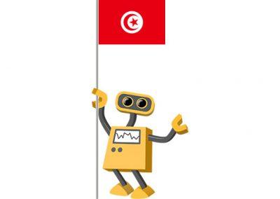Robot 39-TN: Flag Bot, Tunisia