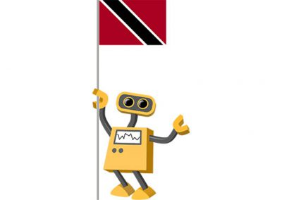 Robot 39-TT: Flag Bot, Trinidad and Tobago