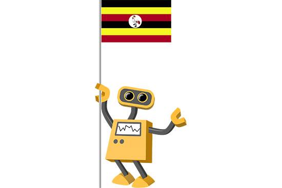 Robot 39-UG: Flag Bot, Uganda