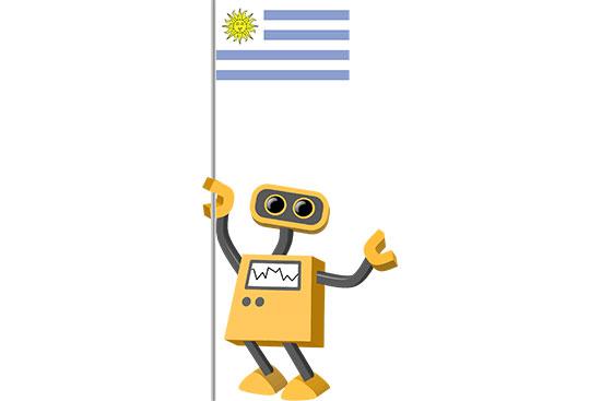 Robot 39-UY: Flag Bot, Uruguay
