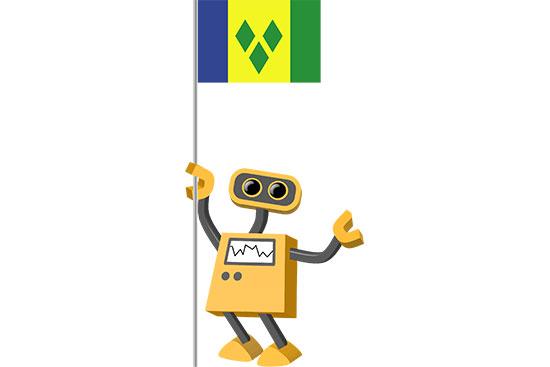 Robot 39-VC: Flag Bot, Saint Vincent and the Grenadines