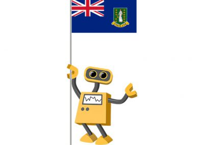 Robot 39-VG: Flag Bot, British Virgin Islands