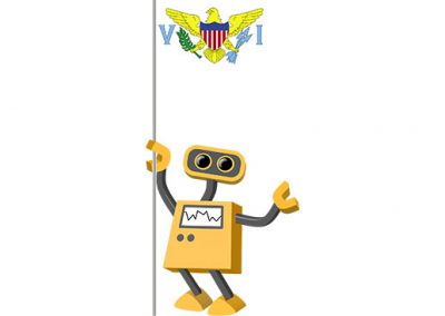 Robot 39-VI: Flag Bot, U.S. Virgin Islands