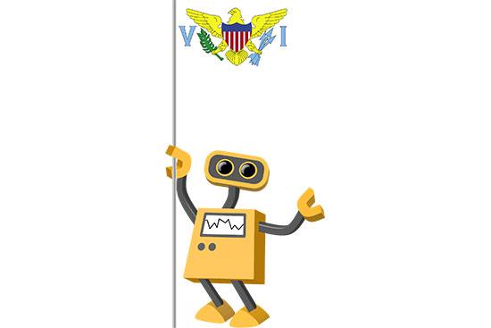 Robot 39-VI: Flag Bot, U.S. Virgin Islands