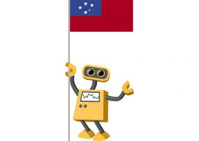 Robot 39-WS: Flag Bot, Samoa
