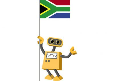 Robot 39-ZA: Flag Bot, South Africa