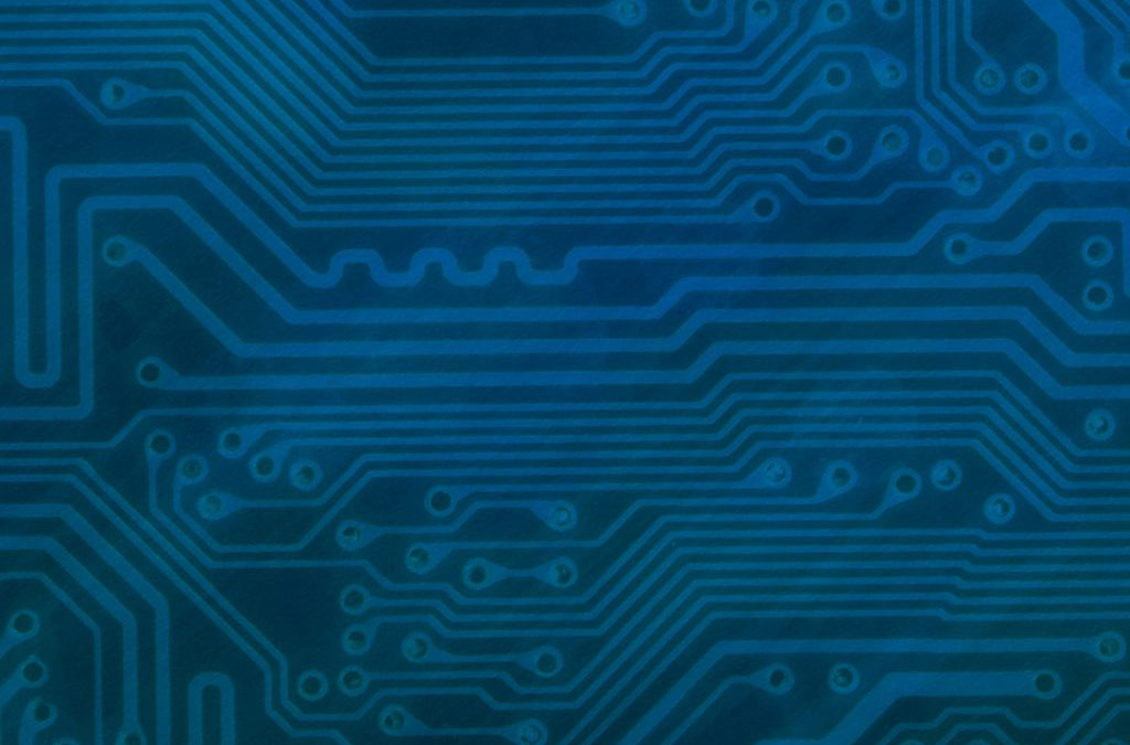 Circuit Board Background Slide: Blue