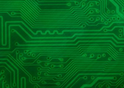 Circuit Board Background Slide: Green