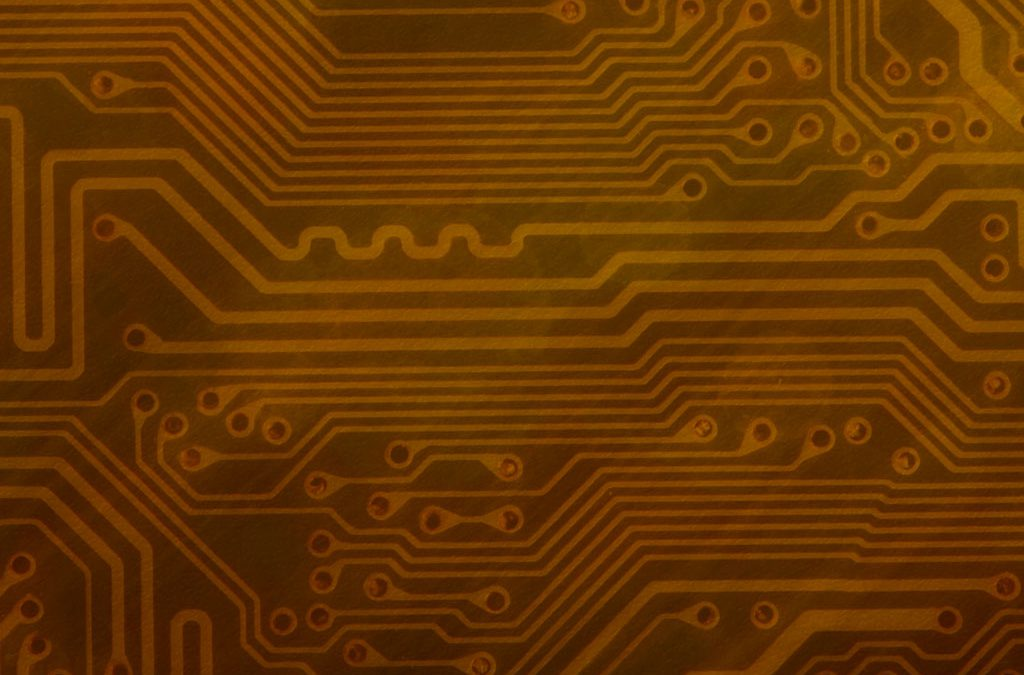 Circuit Board Background Slide: Gold