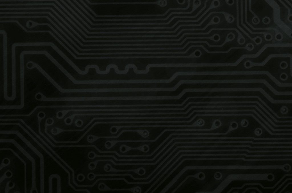 Circuit Board Background Slide: Black