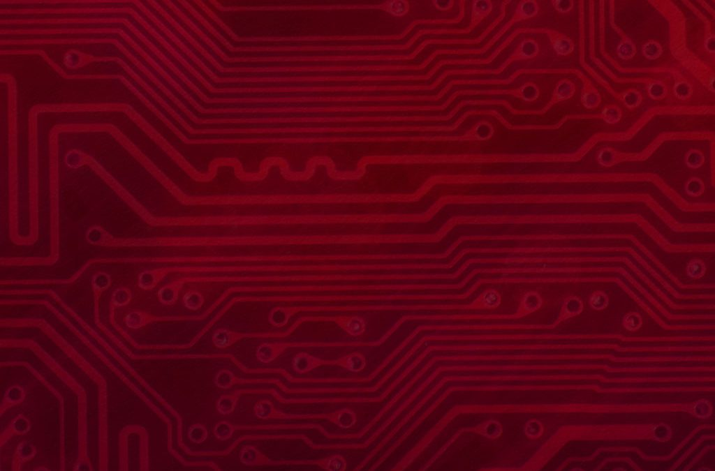 Circuit Board Background Slide: Red