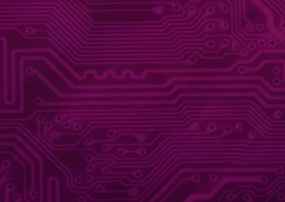 Circuit Board Background Slide: Red-Violet
