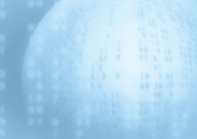 Soft Blue Digital Globe Background