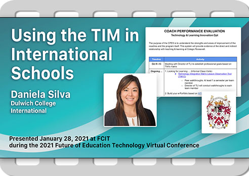 Using the TIM in International Schools
