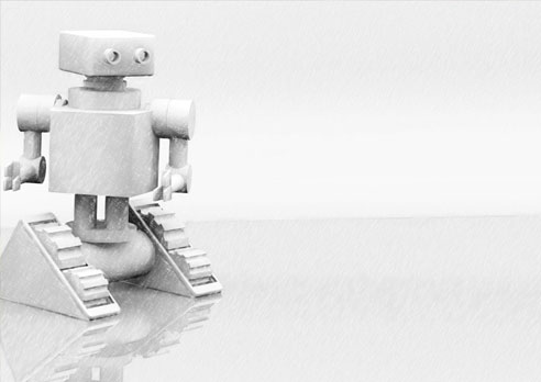 Grey Robot Presentation Slide