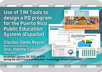 Use of TIM Tools To Design a PD Program in Puerto Rico (Español)