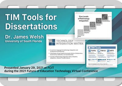 TIM Tools for Dissertations