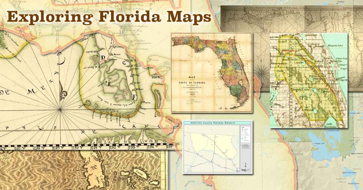 Exploring Florida Maps Homepage on maps of delaware shape, florida state shape, map of connecticut shape, map of kentucky shape, map of washington dc shape,
