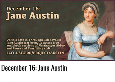December 16: Jane Austin