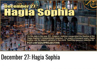 December 27: Hagia Sophia