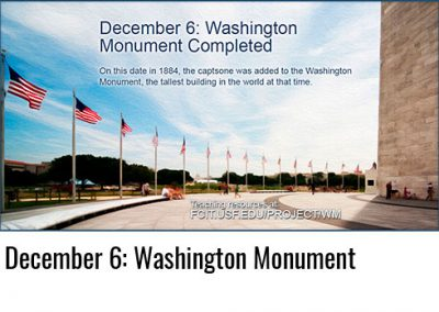 December 6: Washington Monument Completed