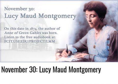 November 30: Lucy Maud Montgomery