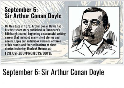 September 6: Sir Arthur Conan Doyle