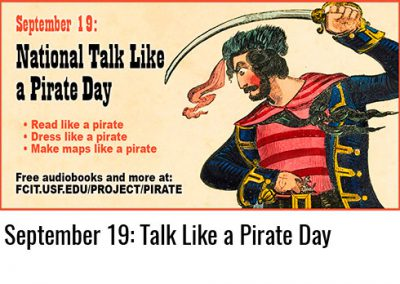 September 19: Talk Like a Pirate Day