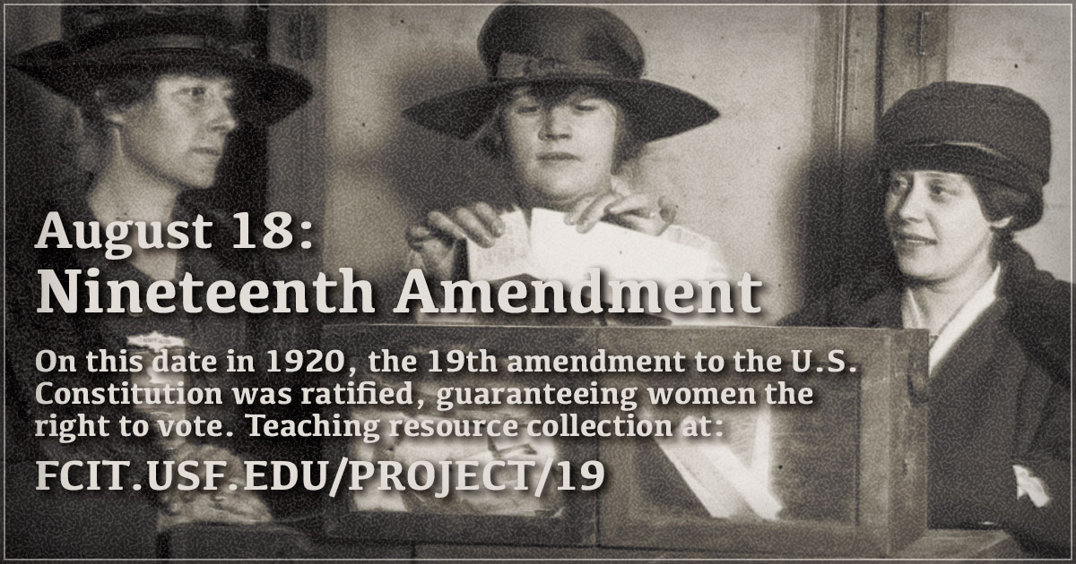 Image result for 19th amendment ratified