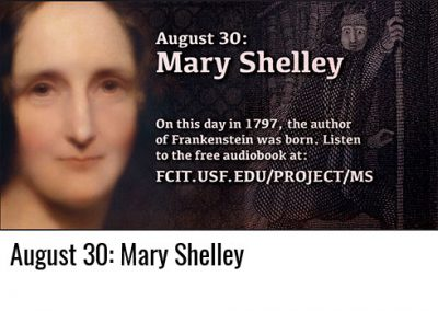August 30: Mary Shelley