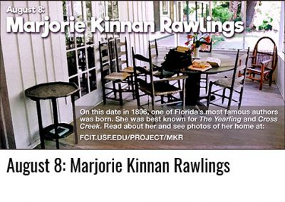 August 8: Marjorie Kinnan Rawlings