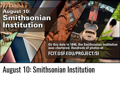 August 10: Smithsonian Institution