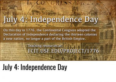 July 4: Independence Day