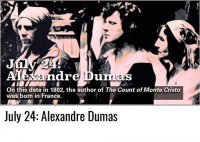July 24: Alexandre Dumas
