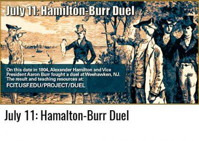 July 11: Hamilton-Burr Duel