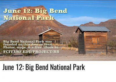 June 12: Big Bend