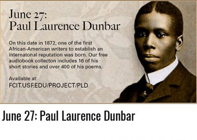 June 27: Paul Laurence Dunbar