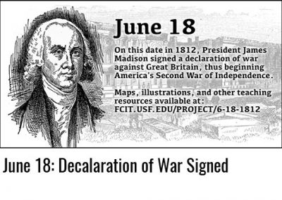 June 18: War of 1812