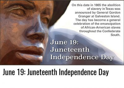 June 19: Juneteenth Independence Day