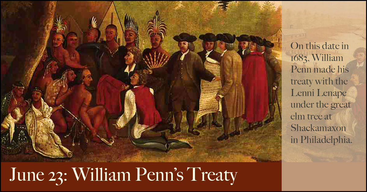 Image result for lenni lenape images with William Penn