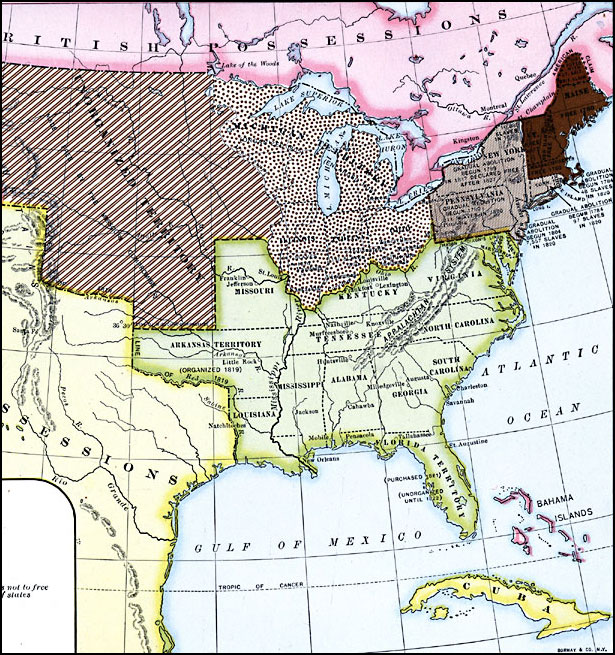 June Juneteenth Independence Day FCIT - Map of us in 1821