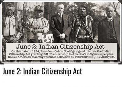 June 2: Indian Citizenship Act