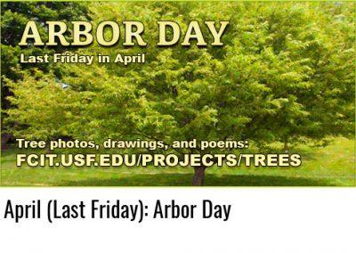 April: Arbor Day