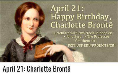 April 21: Charlotte Brontë