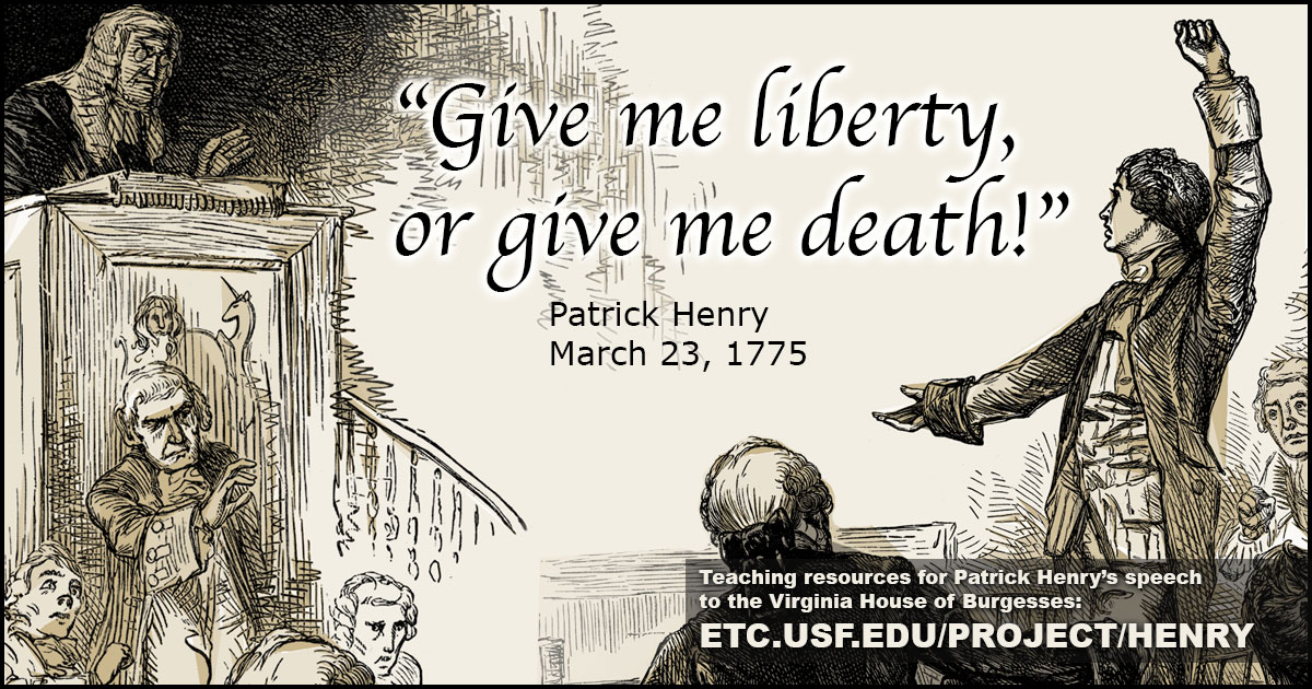 patrick henry liberty or death