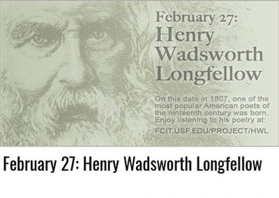 February 27: Henry Wadsworth Longfellow